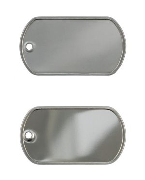 Mini Dog Tag, Dull or Shiny Finish